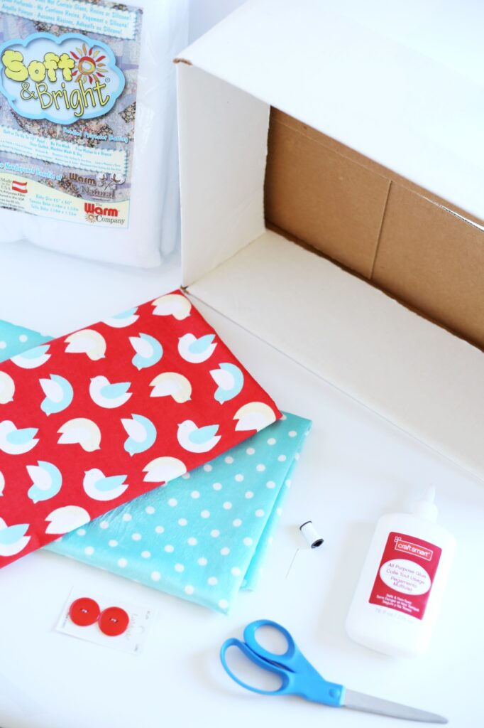 DIY cardboard box cat bed supplies